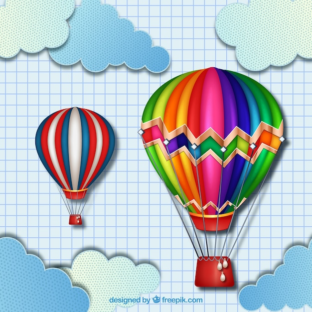 Globos aerost ticos coloridos descargar vectores premium - Globos aerostaticos infantiles ...