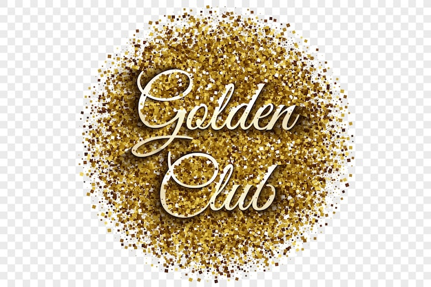 Golden club gold shiny tinsel vector illustration Vector Premium