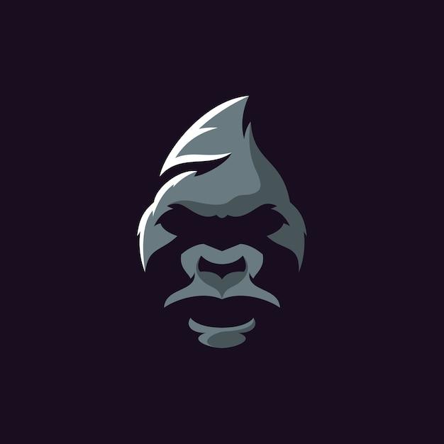 Gorila logotipo ilustrador Vector Premium