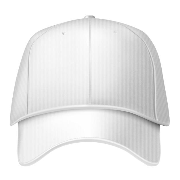 Gorra de béisbol aislado sobre fondo blanco. Vector Premium