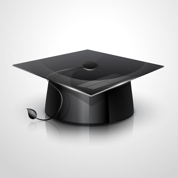 Gorro de graduación Vector Premium