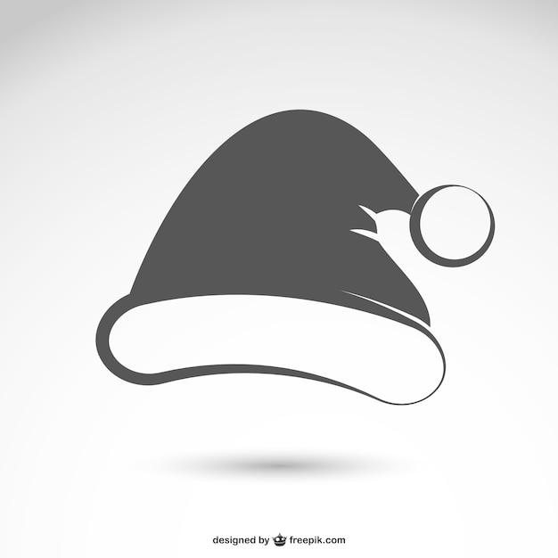 Gorro de santa claus en blanco y negro  884174cbbcd