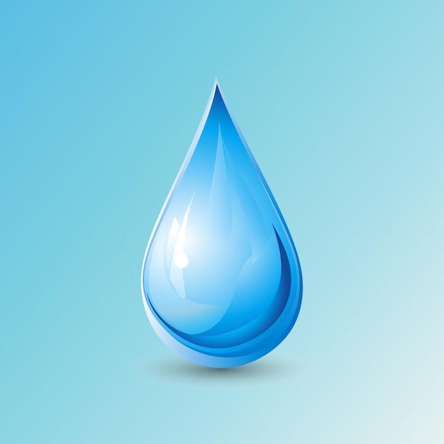 Gota sobre fondo azul d a mundial del agua descargar for Fondos animados de agua