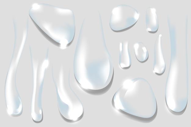 Gotas de agua vector gratuito