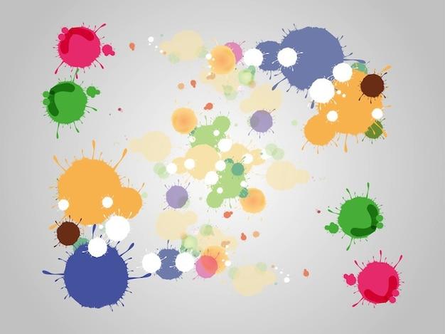 Gotas de colores con diferentes tamaños | Descargar Vectores gratis