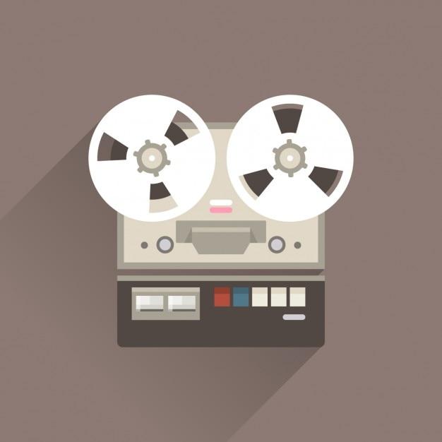 Grabadora vintage vector gratuito