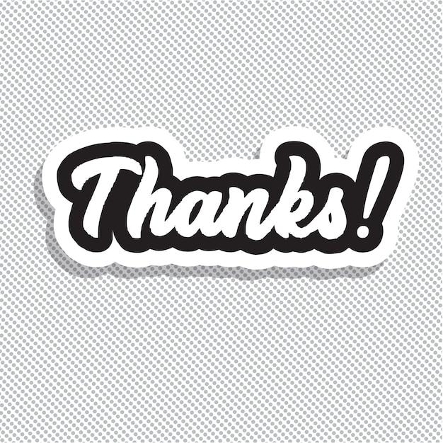 ¡gracias! ilustración de vector de letras de mano. Vector Premium