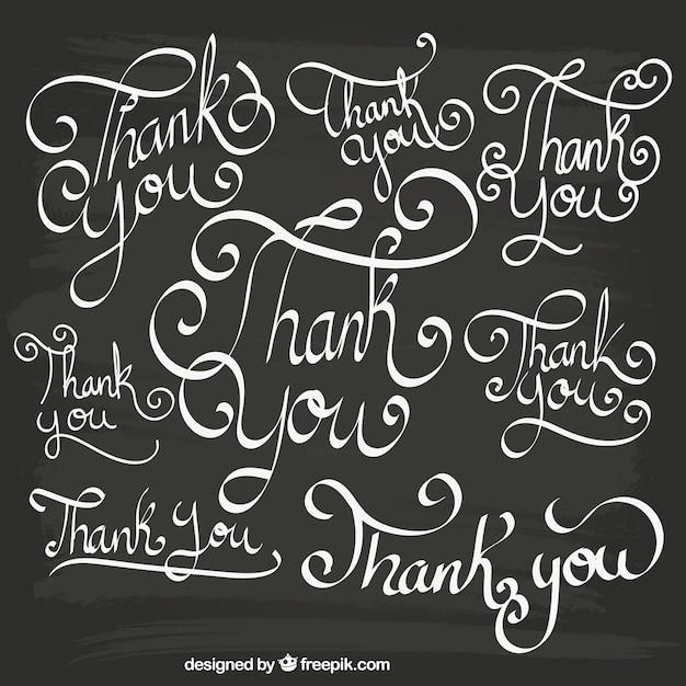 Gracias letras Vector Gratis