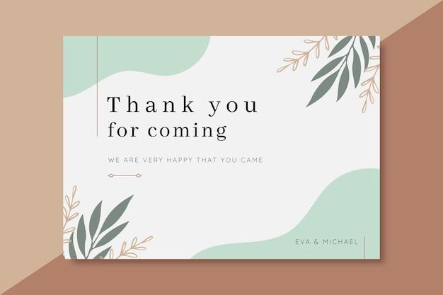 Gracias tarjeta de boda vector gratuito