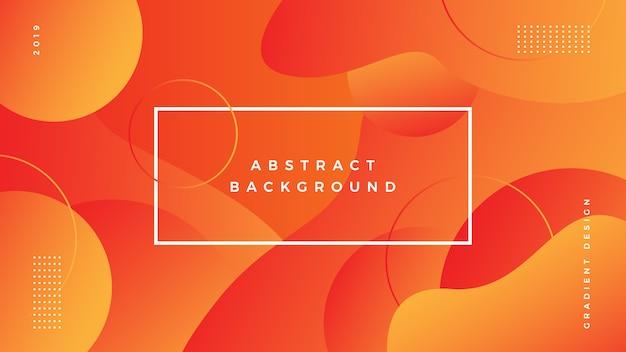 Gradiente de fondo abstracto vibrante Vector Premium