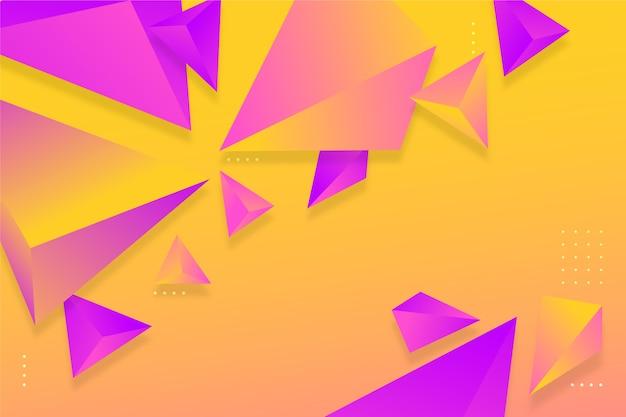 Gradiente de fondo triángulo violeta y naranja con colores vivos vector gratuito
