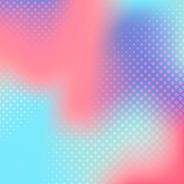 Gradiente multicolor vector de fondo de semitono vector gratuito
