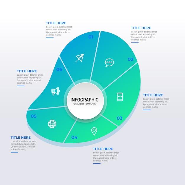 Gradiente resumen forma infografía vector gratuito