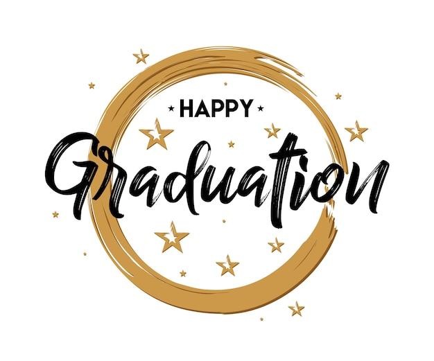 Graduacion Feliz Tipografia De La Vendimia Grunge