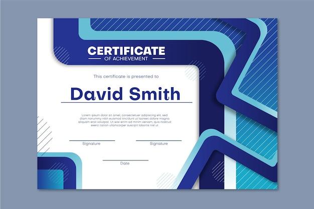 Graduación de plantilla de diploma vector gratuito