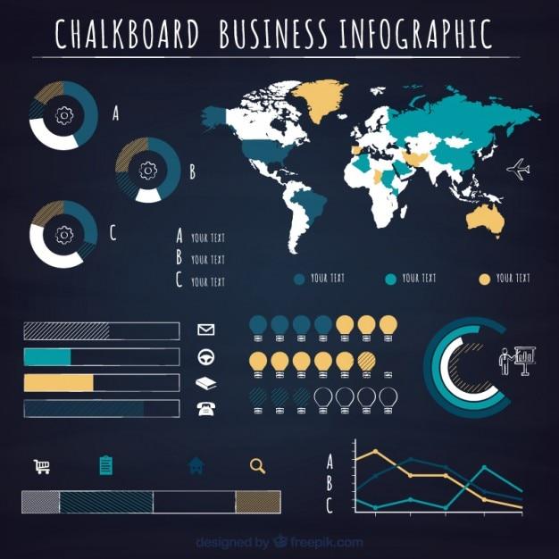 Gráficas infografía negocio vector gratuito