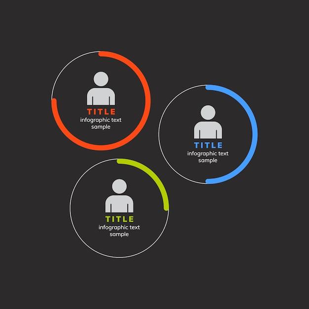 Gráfico corporativo de gestión de rendimiento del vector. vector gratuito