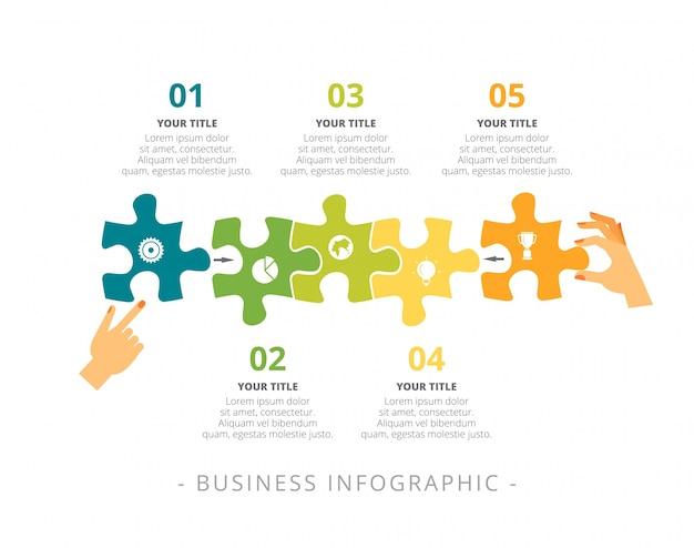 Gráfico de procesos con plantilla de cinco pasos | Descargar ...