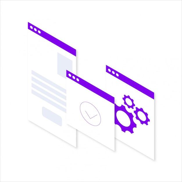 Gráfico financiero de negocio moderno isométrico gráfico Vector Premium