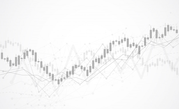 Gráfico de gráfico de palo de vela empresarial del mercado de valores Vector Premium