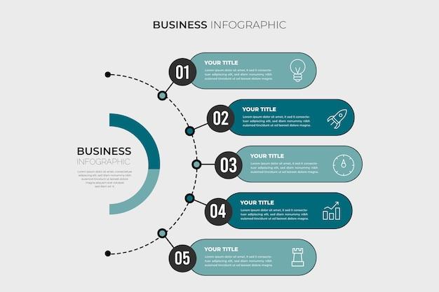 Gráfico de información empresarial minimalista vector gratuito