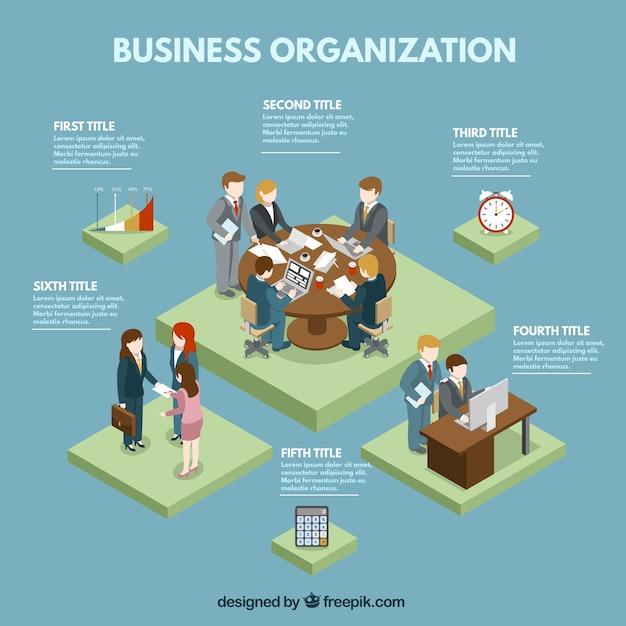 Gráfico de organización de negocios vector gratuito
