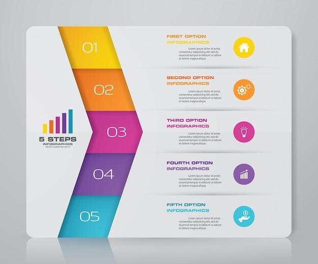 Gráfico de presentación elemento infográfico Vector Premium