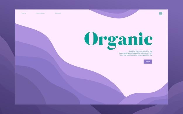 Gráfico de sitio web informativo de plantación orgánica vector gratuito