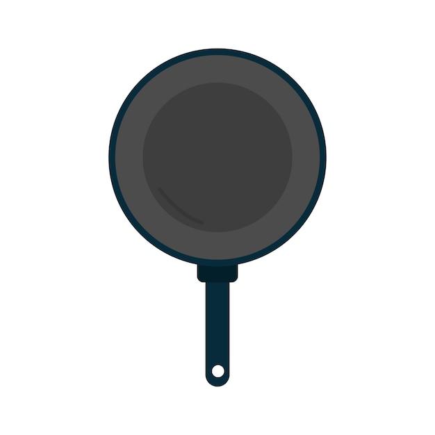Gráfico de utensilios de cocina de sartén vector gratuito