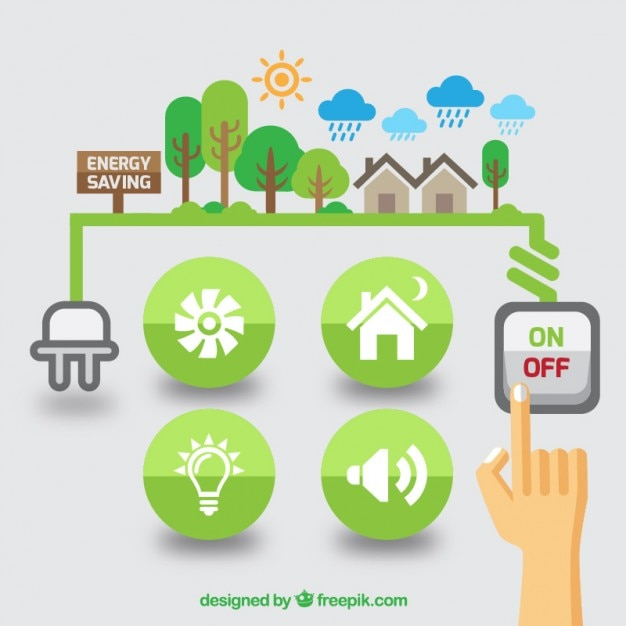 Gráficos planos de energía renovable vector gratuito