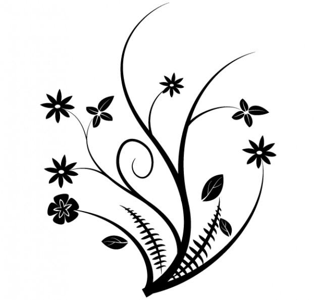 Line Art Design Free Download : Gráficos vectoriales florales descargar vectores gratis