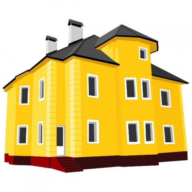 Gran casa amarilla descargar vectores gratis Casa amarilla sucursales