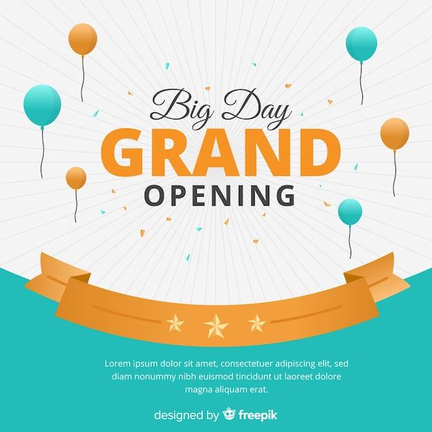Gran inauguración vector gratuito