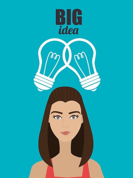 Grandes ideas de mentes jóvenes vector gratuito