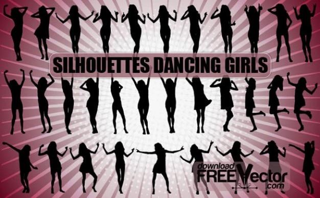 Gratis Chicas bailando Siluetas vectoriales   Descargar Vectores ...