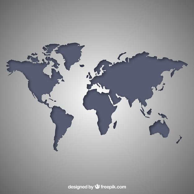 Gris mapa del mundo descargar vectores gratis color gumiabroncs Images