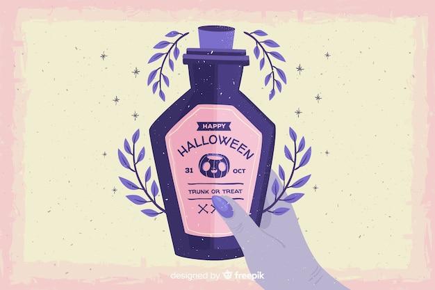Grunge fondo de halloween con veneno vector gratuito