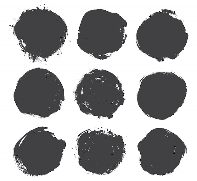 Grunge formas redondas Vector Premium