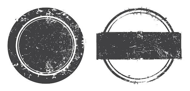 Grunge sellos en dificultades Vector Premium