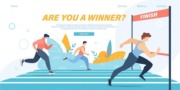Grupo de atletas sprinter equipo de deportistas maratón corre a distancia o deporte correr Vector Premium