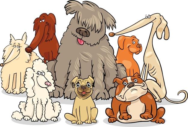 Grupo De Perros De Pura Raza De Dibujos Animados Descargar