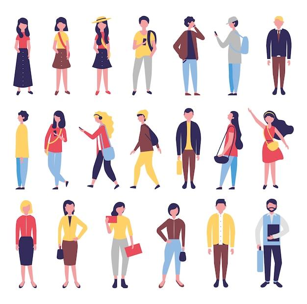 Grupo de personas de la comunidad agrupa personajes vector gratuito