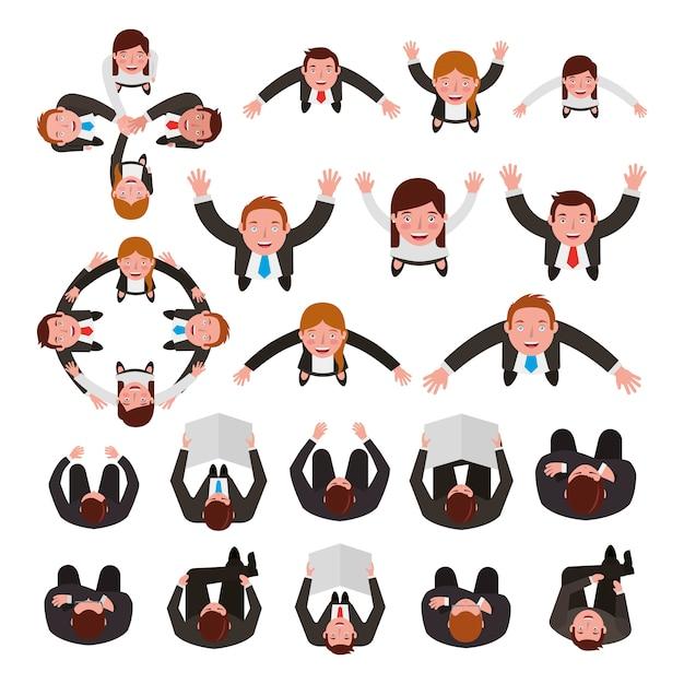 Grupo de personas de negocios agrupan personajes vector gratuito