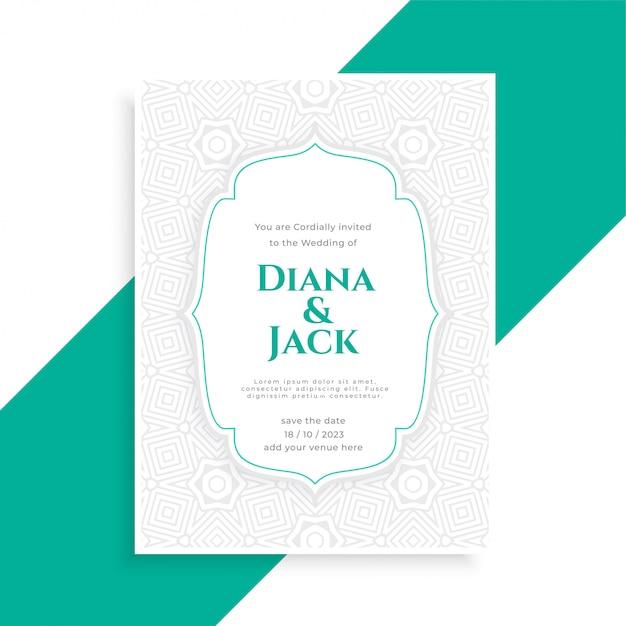 Guardar la plantilla de tarjeta de invitación de boda de fecha vector gratuito