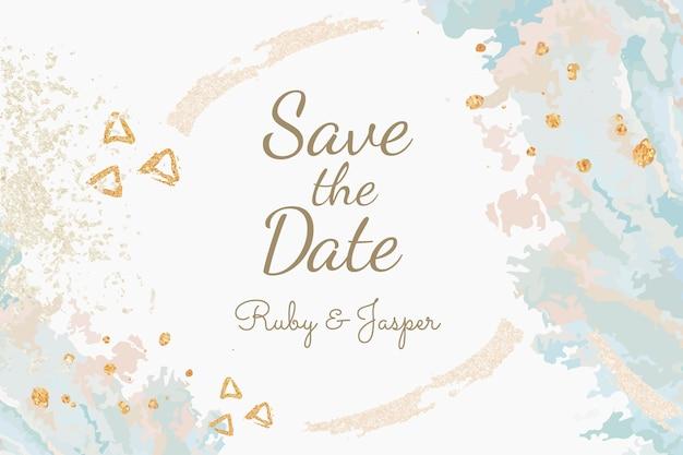 Guardar el vector de invitación de boda de fecha vector gratuito