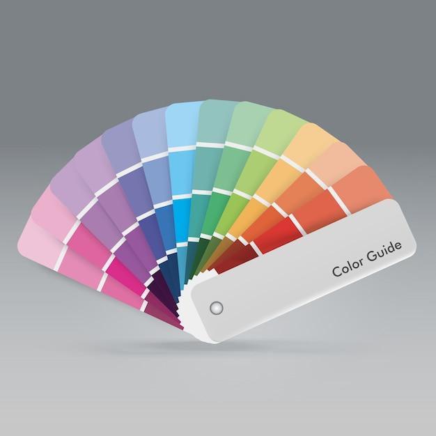Guía De La Paleta De Colores Para Imprimir La Guía Para El Diseñador Vector Premium