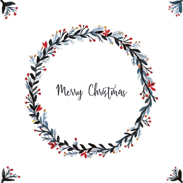 Guirnalda navidad guirnalda de navidad acuarela vector - Guirnalda de navidad ...