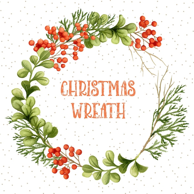 guirnalda de navidad acuarela - Guirnalda Navidad