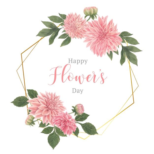 Guirnalda de elegancia de flores botánicas vector gratuito