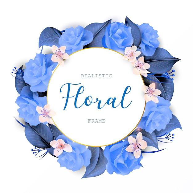 Guirnalda floral diseño de la boda vector gratuito